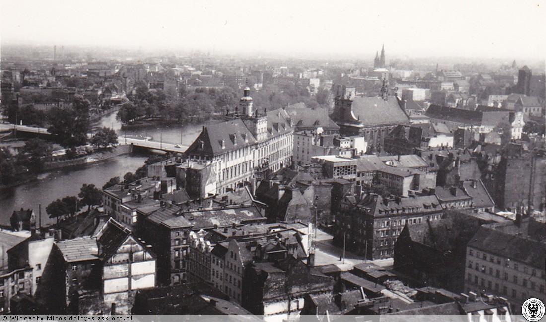 Widoki z wieży bazyliki św. Elżbiety, Wrocław