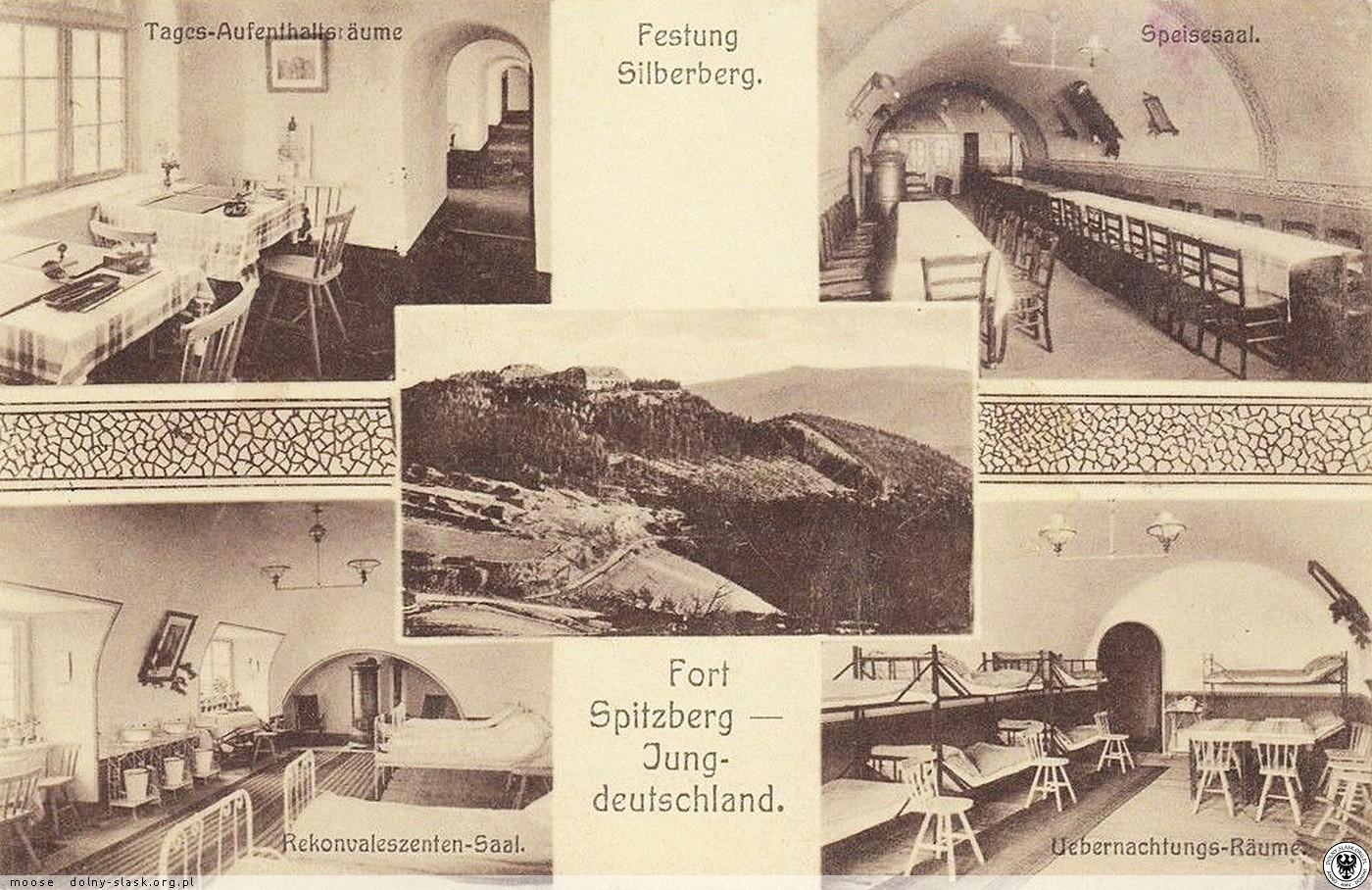 Schronisko młodzieżowe w Forcie Ostróg. W 1913 roku fort został przekazany przez Króla Prus Cesarza Wilhelma II