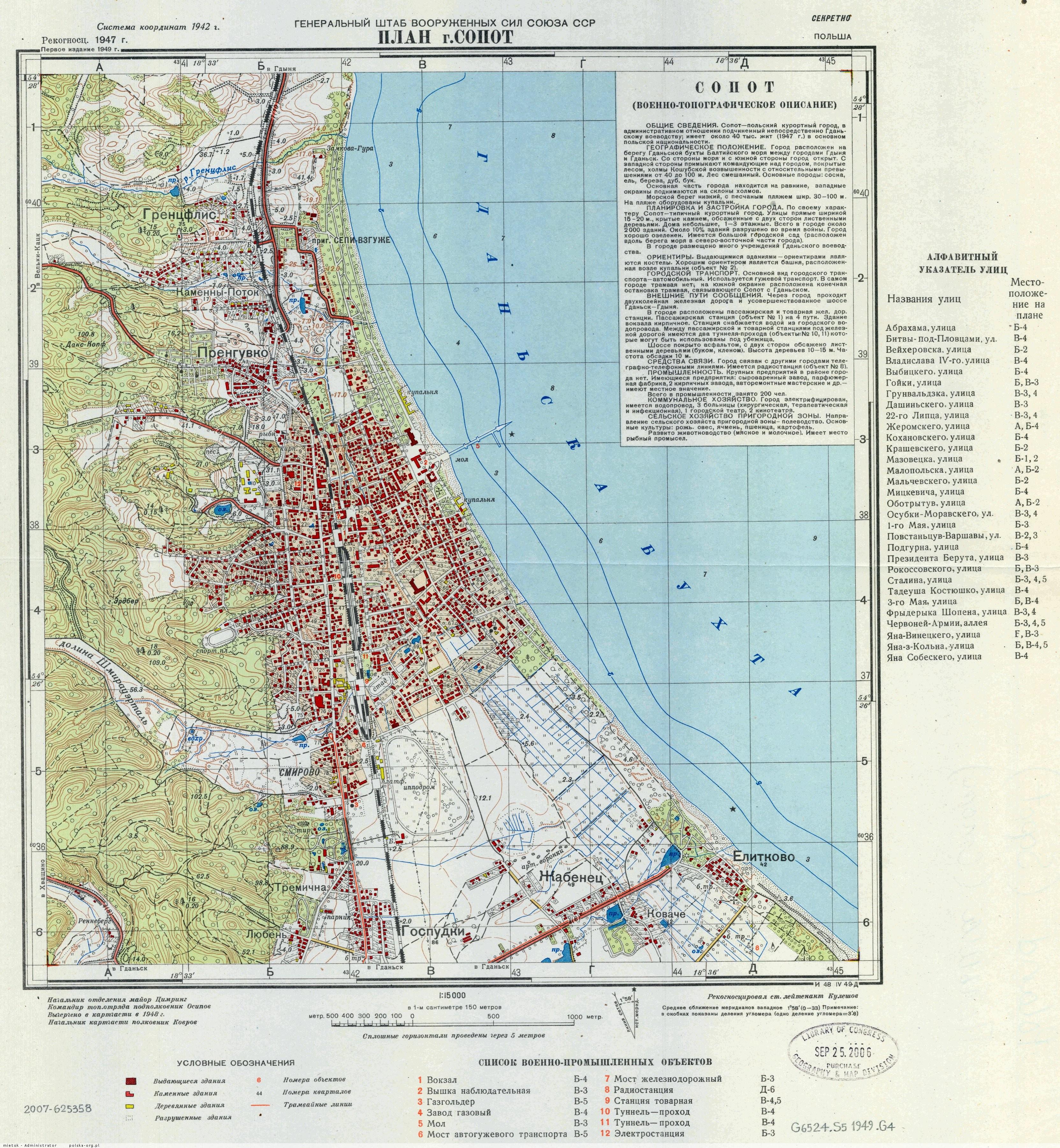 Plany I Mapy Sopotu Sopot Zdjecia